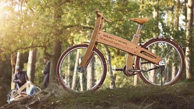 Максимально экологичный велосипед из дерева Bough Bikes