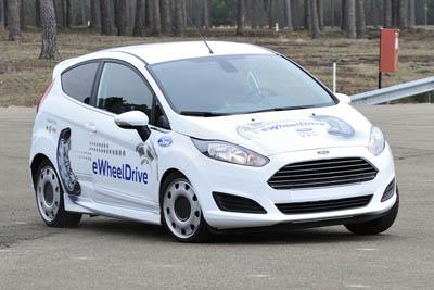 Ford Fiesta eWheelDrive – суперманевренный электромобиль,