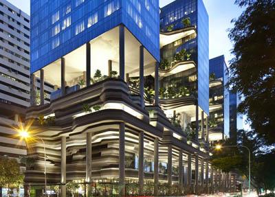 Гостиница-сад  Parkroyal on Pickering в Сингапуре – проект экологической архитектуры года