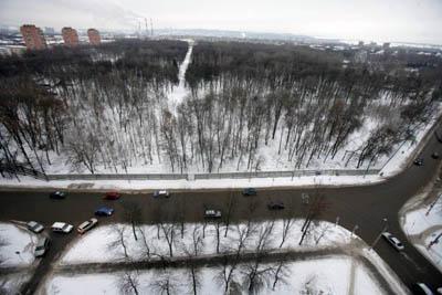 Зона предполагаемого размещения аквапарка в Нижнем Новгороде