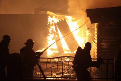 пожар на Евромайдане