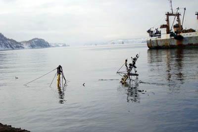 затопленные суда в Авачинской бухте