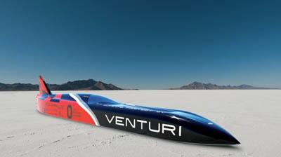 Venturi Buckeye Bullet 3 – 11-тиметровый трехтонный электроболид-пуля со скоростью 700 км/ч