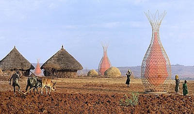 Эфиопия: вода из воздуха с помощью Башни Warka