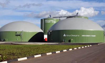 В России появится до 30 биогазовых станций