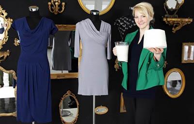 Qmilch – эко-одежда из молока от ученой и модельера Анке Домаске из Германии