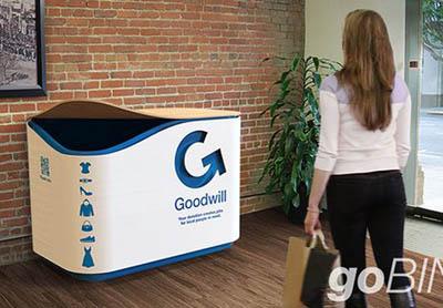 контейнер Goodwills для текстиля