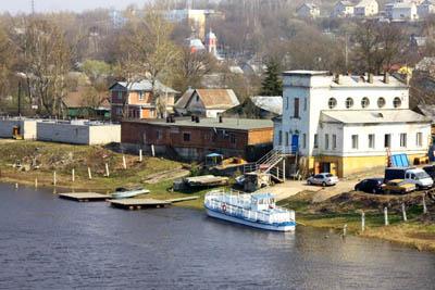 судоходный Днепр в Смоленске