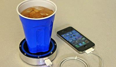 зарядка телефона льдом