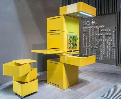 Clie – колонная кухня площадью 1 кв. м