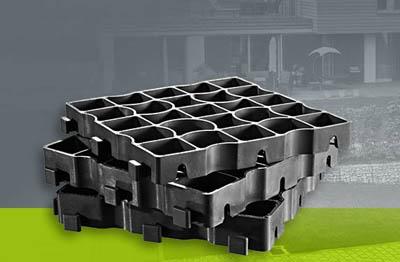 Система экологичного дорожного покрытия EcoRaster из переработанных пластиковых пакетов