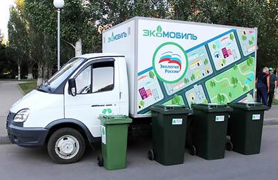 Экомобили для сбора опасных отходов у населения Санкт-Петербурга