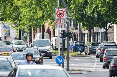 В Гамбурге запретили движение дизельных авто на двух главных трассах