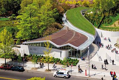 Экологичное здание Ботанического сада Бруклина от бюро Weiss Manfredi