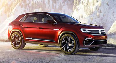VW Atlas Cross Sport Concept – популярный BMW X6